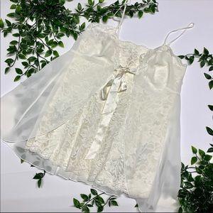 Victoria's Secret White Lace Night Gown